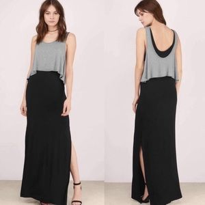 Tobi Meredith Two Tone Flowy Maxi Dress
